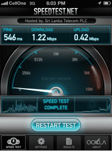 BSNL 3G speed test
