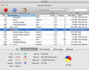 Mac OS X Activity Monitor